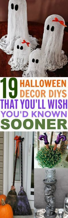 These 19 Halloween DIY Decor Ideas Are Projects You Don't Want To Miss Out on! They're super cute and frugal!
