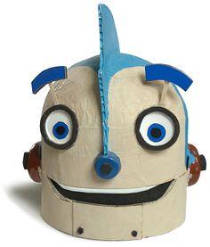 Robot - papier mache Rodney Robot head