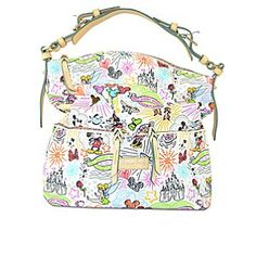 Disney Sketch Pocket Satchel Bag by Dooney & Bourke. Handbags, totes and accessories from Dooney & Bourke found at Disney Parks... disneydb.blogspot.com