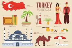[ Turkey Country Flat Vector Icons Set Icons Creative Market ] - Best Free Home Design Idea & Inspiration Turkey Culture, Different Architectural Styles, Turkey Country, Turkey Travel, Europe, Book Projects, City Maps, Travel Scrapbook, Vacation Trips