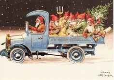 Fantastiskt julkort av Jenny Nyström.