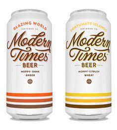 Modern Times Beer - product packaging designed by Helms Workshop via the dieline