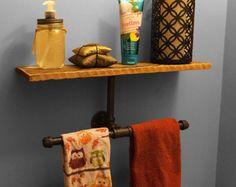 37.25 Rustic Barnwood Panel Towel Hook Rack. 4 hook by ABWframes