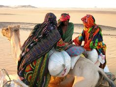 Nice picture of Africa women with camel