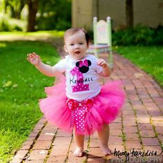 Personalized Minnie Mouse First Birthday tutu by LilybugsBowtique