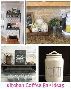 Kitchen Coffee Bar Ideas great ideas for having a coffee bar area in your kitchen.