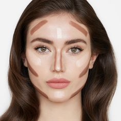 The Hollywood Contour Duo – Liquid Contour & Highlighter Set charlotte_tilbury_hollywood_contour_before Facial Contouring Makeup, Make Up Tutorial Contouring, Contouring And Highlighting, Skin Makeup, Beauty Makeup, Hair Beauty, Contouring For Beginners, How To Blend Contouring, Power Of Makeup
