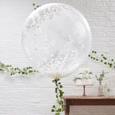 Vita Jätteballonger – 3-Pack
