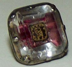 Antique 18th Century 1770's Stuart Crystal Breeches Button