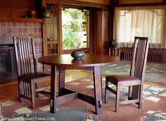 L & J.G. Stickley Trestle Table. Arts and Crafts Period - included Craftsman Style, Prairie/Mission Style, Art Nouveau Style. Do your research to do this style well as it holds much integrity overall.