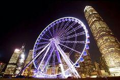 | Ferris wheel in Central, Hong Kong