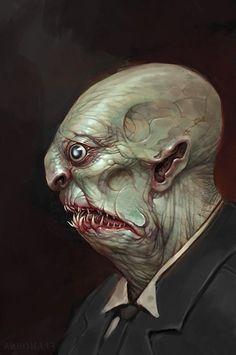 Michael Franchina Concept Art and Illustration Hp Lovecraft, Lovecraft Cthulhu, Aliens, Lovecraftian Horror, Concept Art World, Call Of Cthulhu, Horror Art, Horror Comics, Fan Art