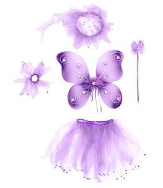 Purple Butterfly Jewel Fairy Princess 5 Piece Costume Set. Includes Wand, Wings, Antennas, Tutu, Hair-tie. by Lil Princess, http://www.amazon.com/dp/B00487K0YW/ref=cm_sw_r_pi_dp_TiBErb13A44NV