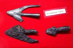 Three 14c arrow heads from the Almonry Museum at Evesham