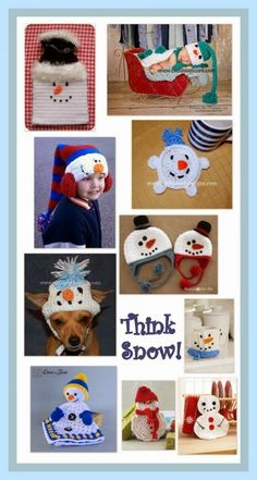 Posh Pooch Designs Dog Clothes: Think Snow!!! Tuesday Treasury of Snowman Crochet Patterns