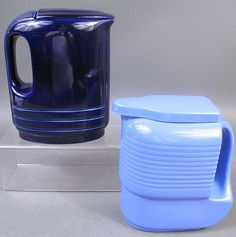 Vintage classics..; Hall pottery lidded refrigerator pitchers..., for Westinghouse