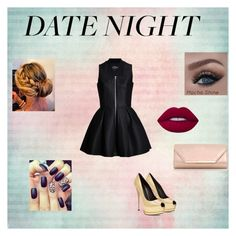"""""""Date Night"""" by emily-maya ❤ liked on Polyvore featuring Lavinia Cadar, Lime Crime and Dorothy Perkins"""