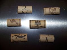 Set of 6 Wine Cork Magnets  Synthetic cork by RustysRusticsDecor, $7.50
