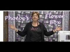 "Jenny Doan demonstrates how to make the lovely Phoebe Flower Box Quilt.  It's a project that is easier to make than it looks, and uses 2.5"" strips of fabric.      To get the materials needed to make this project, visit the following links:    Phoebe Jelly Roll and other Phoebe fabrics by Windham Fabrics (available while..."