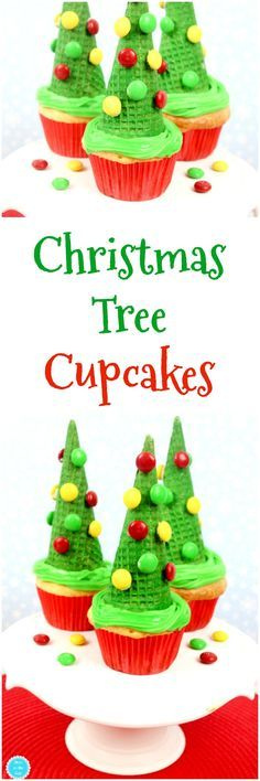 Christmas Desserts are one of my favorite things to make during the holidays, right after DIY Christmas ornaments and cocktails. If you're starting to think about Christmas desserts for kids, keep these Christmas Tree Cupcakes in mind. Simple to make and super fun to eat, these cupcakes for Christmas will be a hit come December! #christmas #desserts #cupcakes