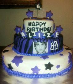Justin  Beiber bday cake