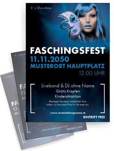 Stylische und coole Flyer gibt es nur bei onlineprintxxl.com! #flyerstyle #karneval #fasching #faschingsfest #faschingswerbung