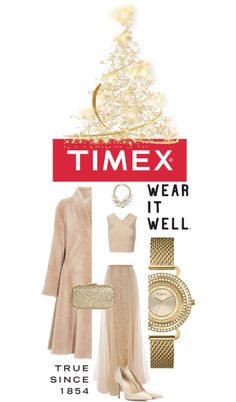 """Timex Contest Entry: How will you #WearItWell this holiday season?"" by tophercouture on Polyvore"