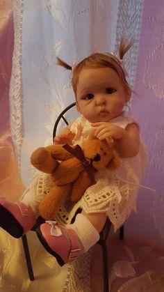 OOAK polymer clay baby girl, Art Doll, 7''   eBay