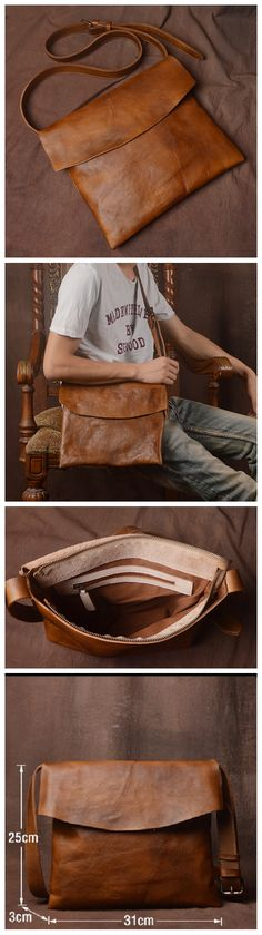 Leather Messenger Bag, School Bag,Leather Shoulder Briefcase JZ005 Handmade Leather, Leather Craft, Small Leather Bag, Leather Phone Case, New Year Gifts, Classy Outfits, Everyday Outfits, Briefcase, Cyber Monday