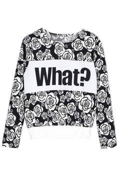 Blossoming Rose Sweatshirt