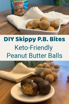 This keto Skippy P. bites (peanut butter balls) recipe is SO easy to make and tastes way better than Skippy P. Skippy Peanut Butter, Peanut Butter Bites, Butter Ball Cookies Recipe, Balls Recipe, Butterball Recipe, Chocolate Fat Bombs, Coconut Recipes, Healthy Recipes, Keto Recipes