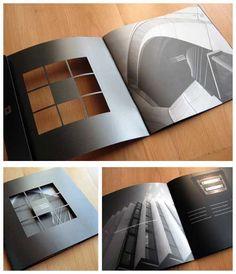 printed brochure design -black with die cutting