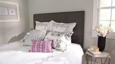 Add style and substance behind the bed with an upholstered headboard. Watch and learn how to make your own this weekend./
