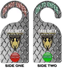 Xbox 360 Call of Duty Advanced Warfare Gamer Online Do Not Enter Door Hanger