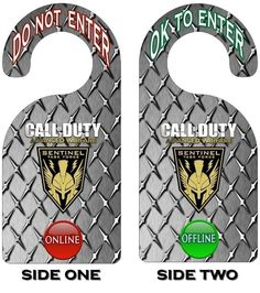 Xbox 360 Call of Duty Advanced Warfare Gamer Online Do Not Enter Door Hanger