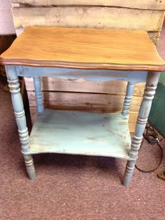 French shabby chic country end table