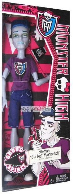 Black Friday 2014 Monster High Ghoul Spirit Slo Mo Doll from Mattel Cyber Monday. Black Friday specials on the season most-wanted Christmas gifts. Monster High Boys, Zombie Dolls, Mattel Dolls, Doll Toys, Themed Outfits, Boy Doll, Doll Accessories, Action Figures, Barbie