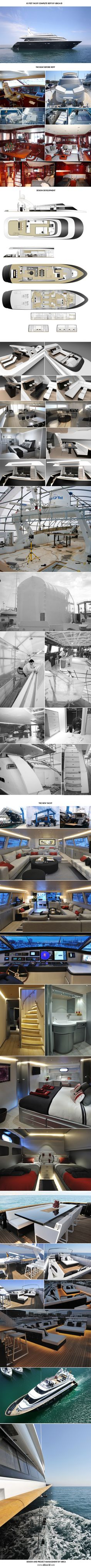85 feet Yacht Refit #Yacht #Yachtdesign #YachtRefit #Inspiration. #OwnYourRefit