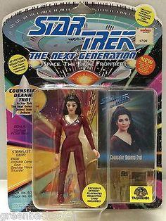 - Star Trek The Next Generation - Counselor Deanna Troi Beverly Crusher, Star Trek Action Figures, Star Trek Generations, Deanna Troi, Captain Janeway, Marina Sirtis, Star Trek Series, The Final Frontier, Before Us