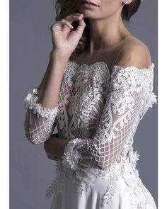 Detail...Skadi' wedding dress Gowns, Embroidery, Detail, Wedding Dresses, Unique, Lace, Instagram Posts, Handmade, Women