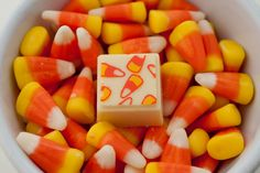 Candy corn chocolate truffle - a classic candy flavor, purely sweet.