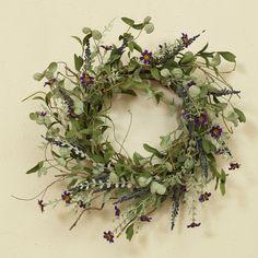 Dried Flower Wreaths, Lavender Wreath, Greenery Wreath, Dried Flowers, Floral Wreaths, Summer Flowers, Purple Flowers, Faux Plants, Diy Wreath
