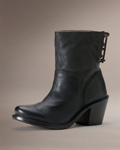 b039a2177cf6 Carmed short back lace boot from Frye. Perfect for work. The Frye Company