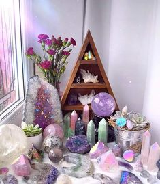 Divine Matrix   Shopatusm Crystal Room Decor, Crystal Bedroom, Crystal Altar, Crystal Healing Stones, Crystals And Gemstones, Stones And Crystals, Goddess Provisions, Witch Room, Crystal Aesthetic