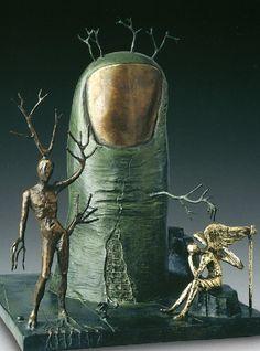 Vision of an angel. Salvador Dali bronze sculpture