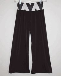 Black palazzo pant with chevron waistband