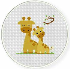 Giraffe cross stitch.