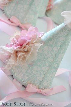 Items similar to Girl's Shabby Chic Ballerina Flower Garden Birthday Party Hat Collection, Special Occasion, Dress up, Birthday, Photo Prop on Etsy