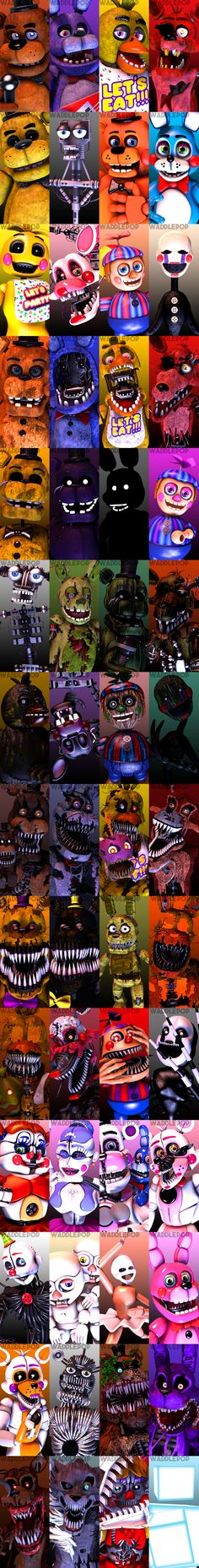 I LOVE FNAF these characters are like family at this point