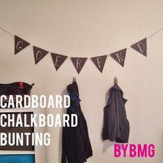 bybmg: Tutorial: Cardboard Chalkboard Bunting